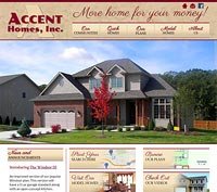Acccent Homes website screenshot